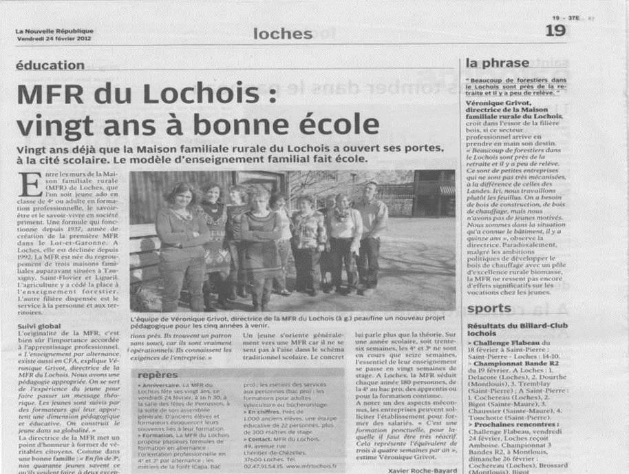 LA MFR DU LOCHOIS FÊTE SES 20 ANS  20-A-LA-MFR-
