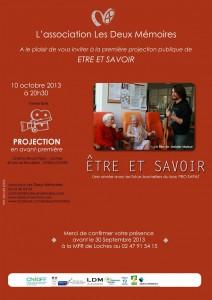 10 octobre 2013 : film à l'affiche au cinéma de Loches etreetavoir-212x300